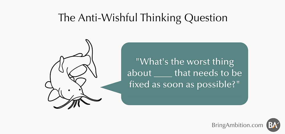 The anti wishful thinking catfish
