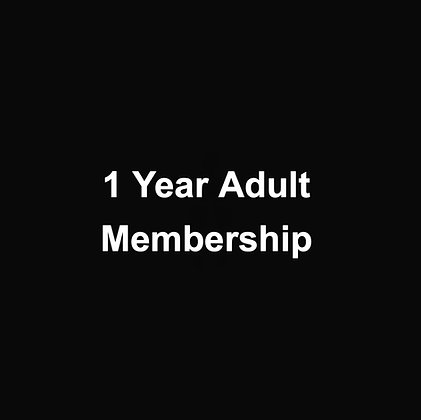 1 Year Adult Membership