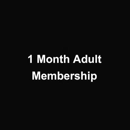 1 Month Adult Membership