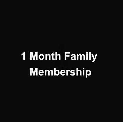 1 Month Family Membership