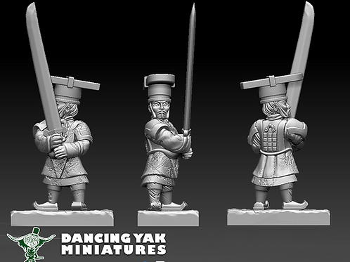 STL undead Terracotta Hero 10-28mm based & unbased versions