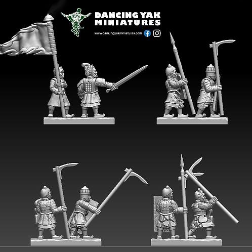 STL undead Terracotta spear man 10-28mm based & unbased versions