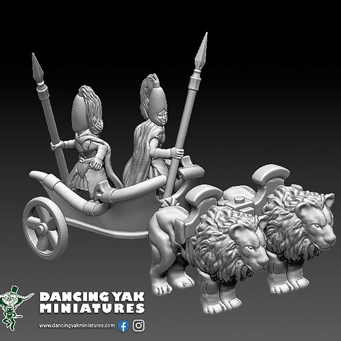 STL 10mm war lion elf chariot also usable in 28mm