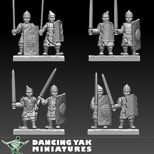 STL undead Terracotta swordsman 10-28mm based & unbased versions
