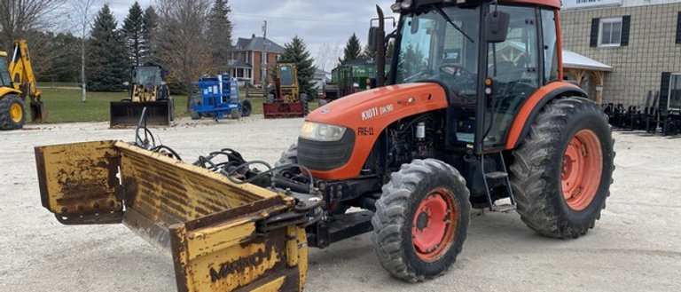 2011 Kioti Dk90 4X4 Tractor With Front Snowblade