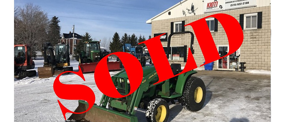 2000 John Deere 4200 4X4 Loader Tractor