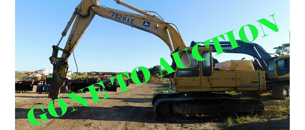 GONE TO 6&6 AUCTIONS : 1986 John Deere 25 Ton Excavator