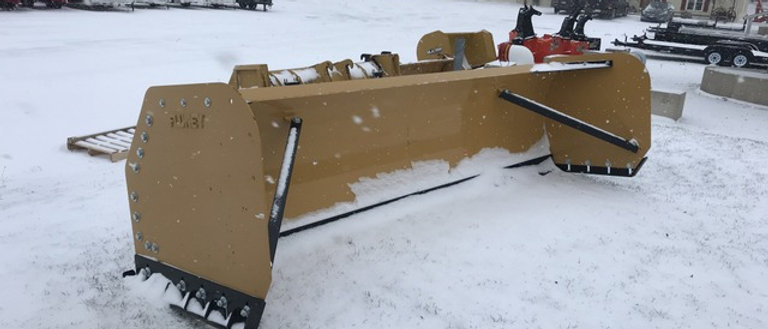Caterpillar Loader Or Backhoe Quick Connect 12 Foot Snow Pusher