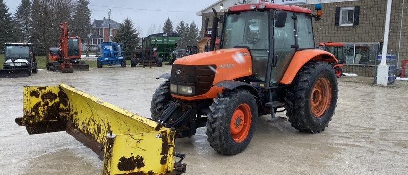 Kubota M108X 4X4 Tractor with Snow Pusher