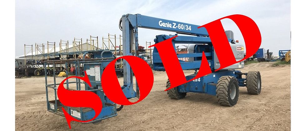 2006 Genie 60 Foot 4X4 Man Lift