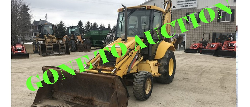 GONE TO AUCTION: 2001 New Holland LB75 4X4 Backhoe