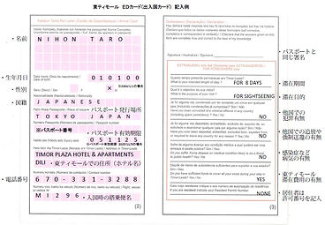 東ティモールEDカード記入例.jpg