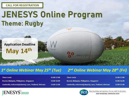 Participating for JENESYS2020 Online Webinar Rugby