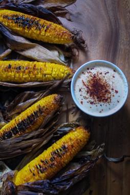 Grilled Corn w/ Chipotle Aioli