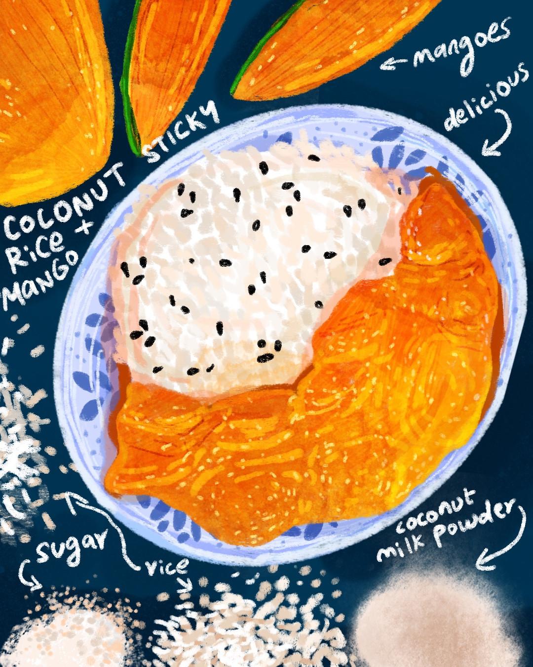 Coconut Sticky Rice + Mango