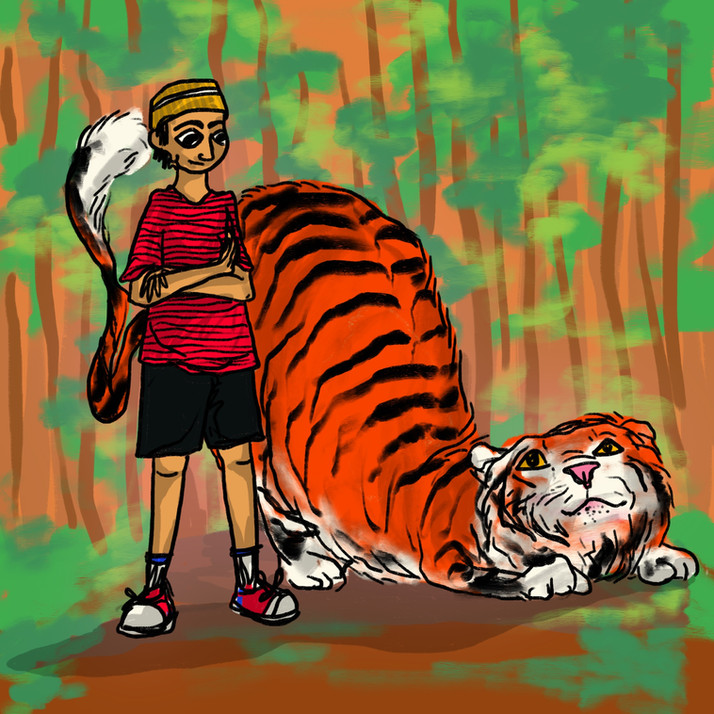 Kabir and Hab // Calvin And Hobbes