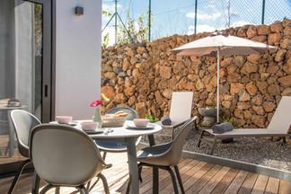 Breakfast terrace VILLA HAHN Holiday home