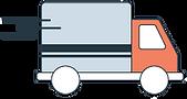 Icône logo de camion pour livraison