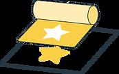 Icône logo de marquage à chaud