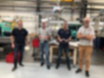 Nicolas Guillard de Cristalpack, Yannick Bouglé de BVI, Didier Madiot de RMO et Xavier Bouglé de BVI
