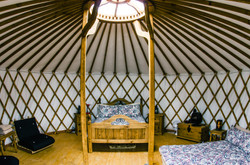 Panoramic view of our Mongolian Yurt