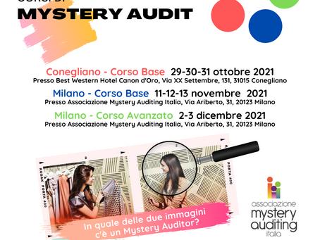 Ecco i corsi sul Myster Audit dell'autunno 2021