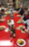 Customers pasta class eating good food