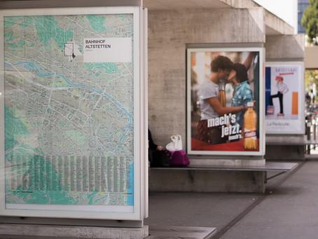 Anúncios bem ao ar livre