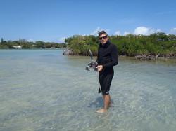 Studying fish schooling behaviour in Florida