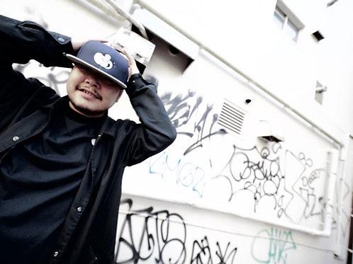 JFH THROW UP BB CAP (NAVY×GRAY)