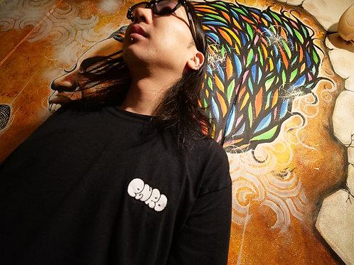 ムカデ顔面×PR THROW UP (黒)