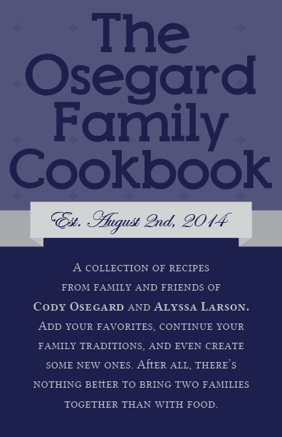 Osegard Cookbook Cover
