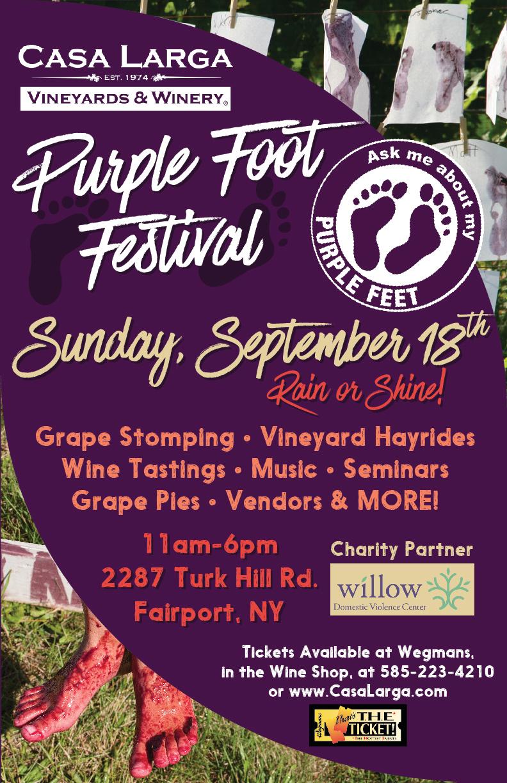 Purple Foot Poster