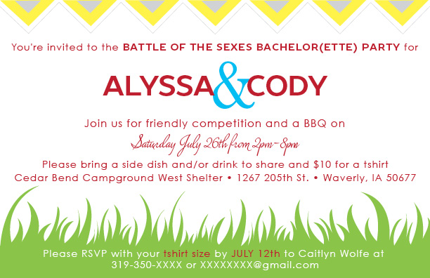 Bachelor(ette) Party Invitation