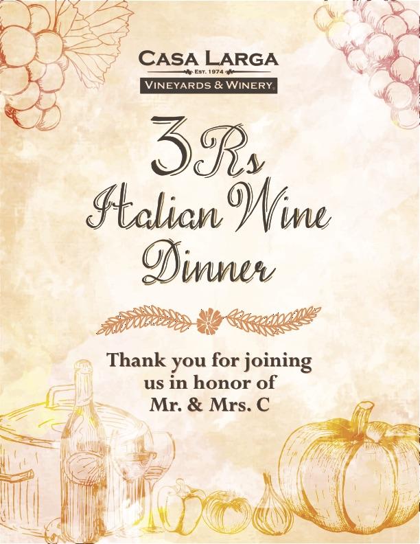 3Rs Dinner 2016