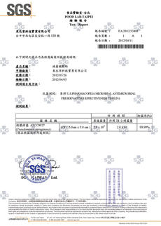SGS-保護貼24h抗菌-綠膿桿菌