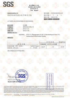SGS-抗菌蠟24h抗菌-白色念珠菌
