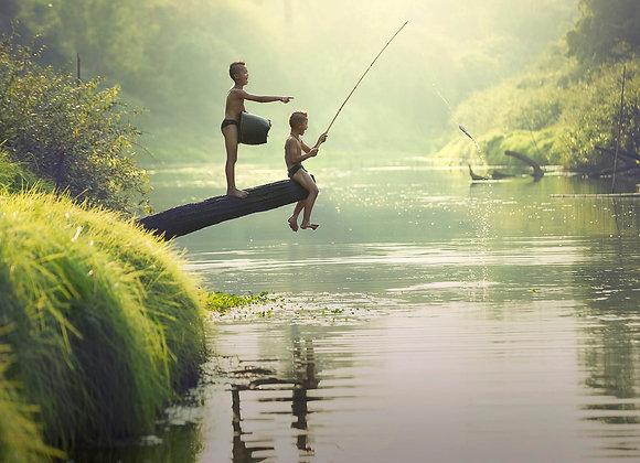 Thai fishing boys