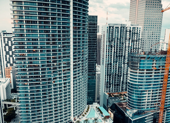 Turquoise skyscrapers