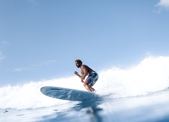 Blue surfer