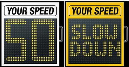 מערכות להצגת מהירות - מד מהירות