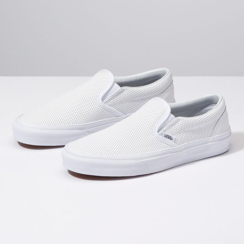 Vans Perf Leather Slip Ons