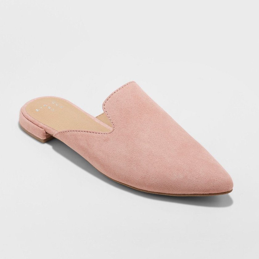 Target Pink Pointy Loafers