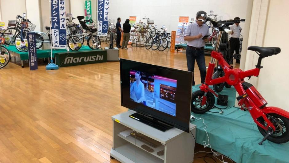 Exhibition at Maruishi Cycle Exhibition Center