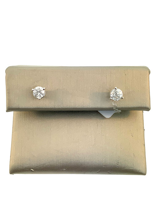 Diamond studs .64ct tw