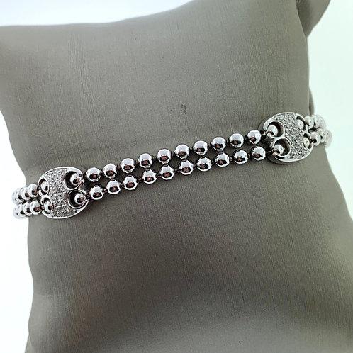 Flex 3 Oval Pave Bracelet