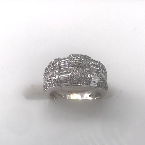 Double Row Pace and Baguette Ring