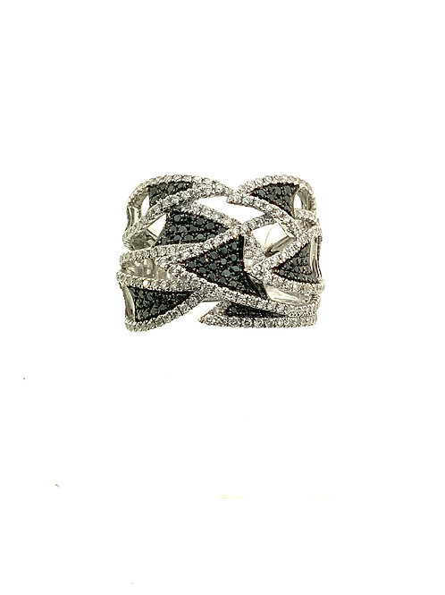Triangular Black diamond ring