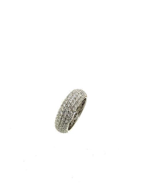 5 row diamond eternity ring