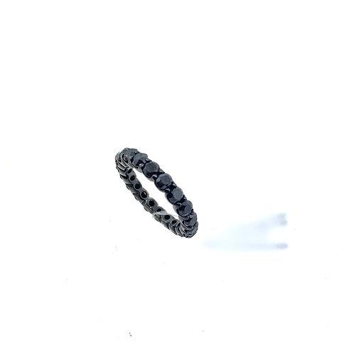 Black diamond eternity band
